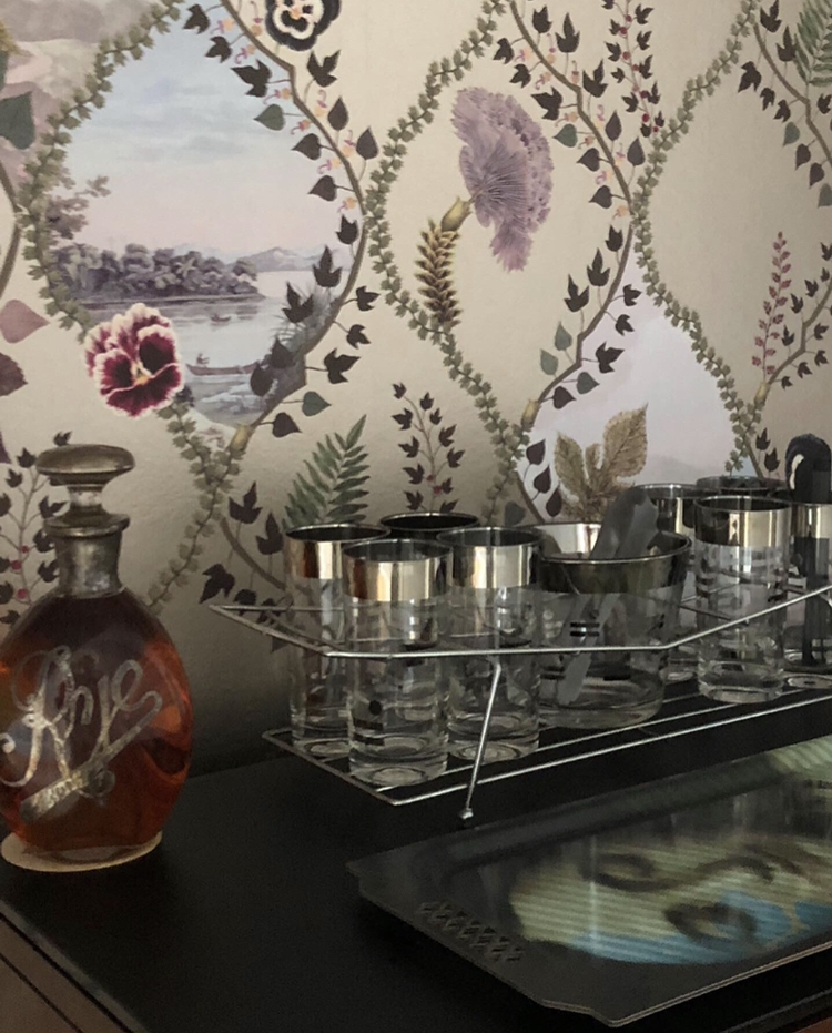 Enclave Project: Home  Cocktail Bar with Christian Lacroix Wallpaper